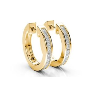 Diamantové náušnice zo žltého zlata