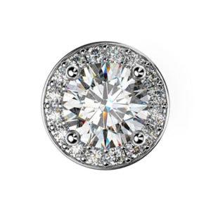 Diamantové kôstkové náušnice z bieleho zlata