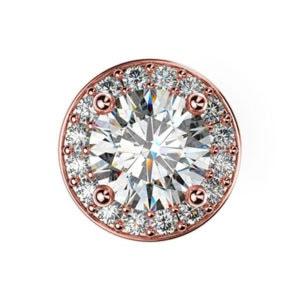 Diamantové kôstkové náušnice z ružového zlata
