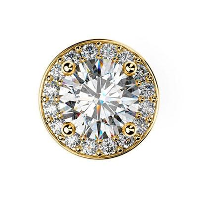 Diamantové kôstkové náušnice zo žltého zlata
