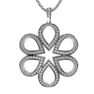 Diamantový náhrdelník z bieleho zlata