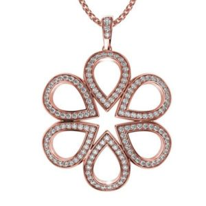 Diamantový náhrdelník z ružového zlata