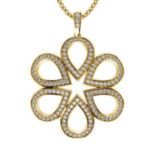 Diamantový náhrdelník zo žltého zlata
