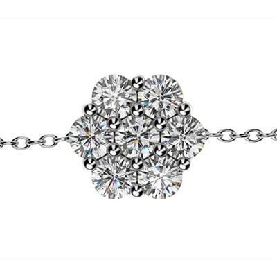 Diamantový náramok z bieleho zlata