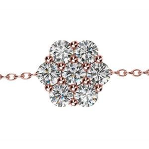Diamantový náramok z ružového zlata
