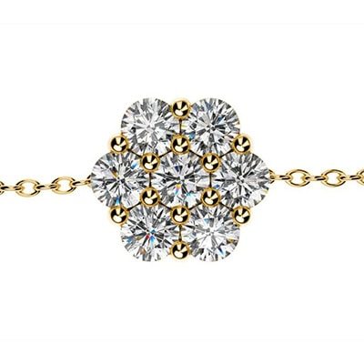 Diamantový náramok zo žltého zlata