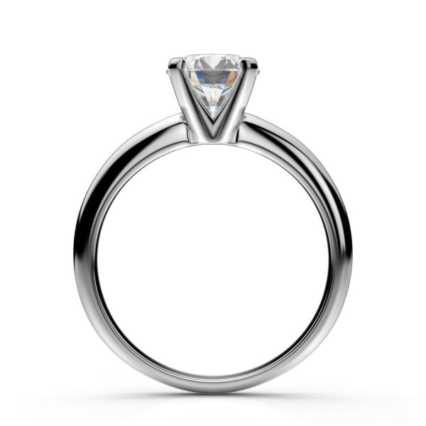 Zásnubný prsteň z bieleho zlata