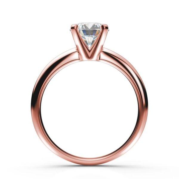 Zásnubný prsteň z ružového zlata