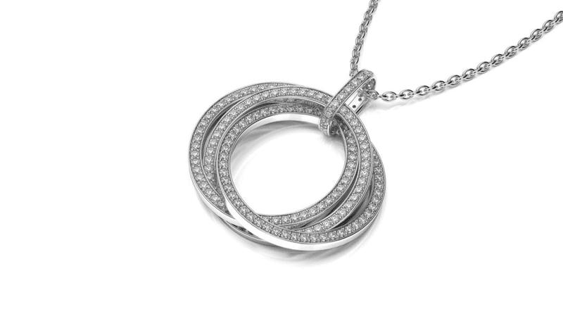 diamantovy nahrdelnik z bieleho zlata